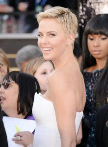 Charlize Theron Pixie Cut Oscars
