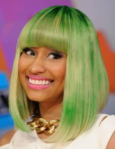 Green Hair Color Nicki Minaj