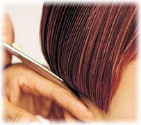 Hair being cut
