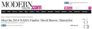 David Barron Featured in Modern Salon