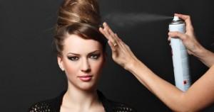 Hairspraying Hair
