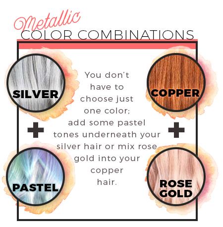 metallic color combos