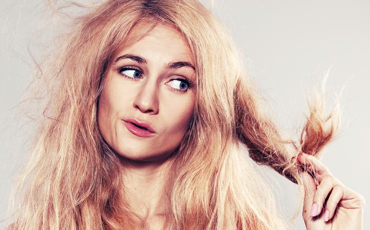 woman dry hair