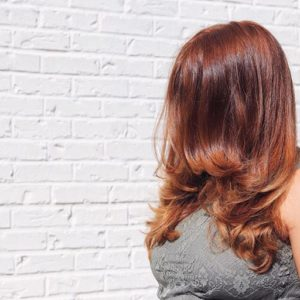 Warm Golden Red Hair Color