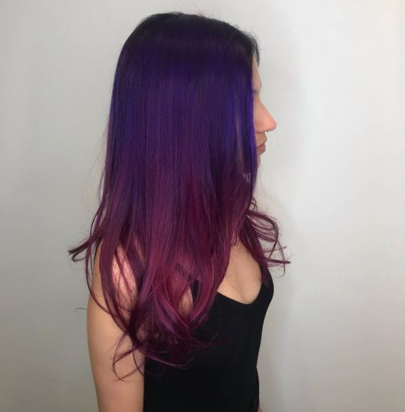 Colormelt Purple Balayage