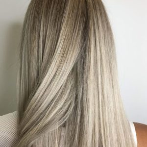 platinum blonde balayage keune haircosmetics atlanta hair salon