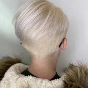 Bleached Blonde and Aroma - Precision Haircut