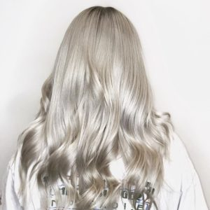 Platinum Blonde Balayage by Atlanta Hairstylist Ryan