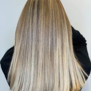 Highlights for the Holiday over Balayage in Atlanta