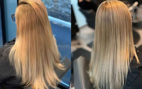 Blonde Babylights Before and Affter