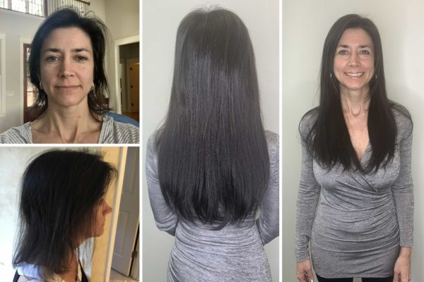Before and After - Hotheads Hair Extensions