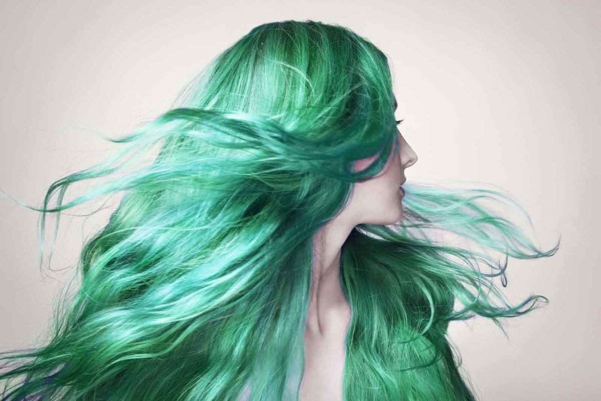 Green Hair Color for St Patricks Day