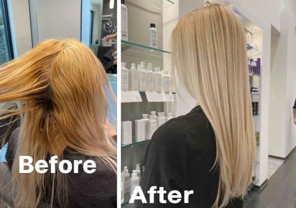 Colormelt Before and After Hair Color - Buckhead Atlanta
