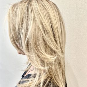 Blonde Highlights Color by Hairstylist Ryan at Barron's London Salon