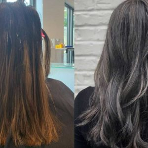 Before and After Hair Color - Color Correction - Atlanta Buckhead Salon