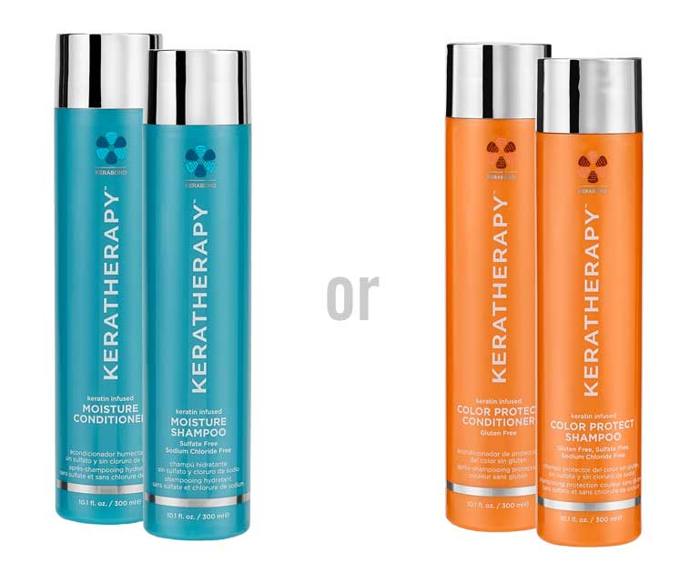 Choice of Keratherapy Shampoo and Conditioner