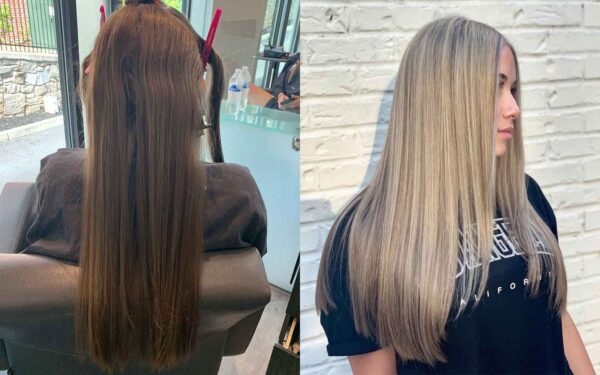 Before and after by Hailey - Keune color, HLTS lightener and Tone with Silver savior shampoo