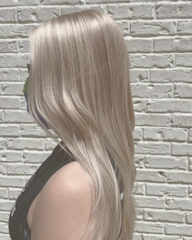 Shimmery Blonde Haircolor - Atlanta Hair Salon