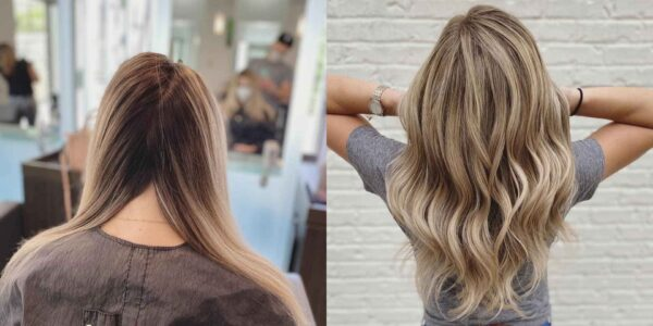 Before and After Summer Blonde Haircolor and Highlights by Ryan