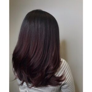 Violet Balayage Hair Color at Barrons Salon in Buckhead ATL