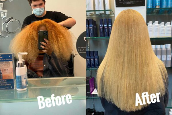 Corrective Color Before and After in Buckhead