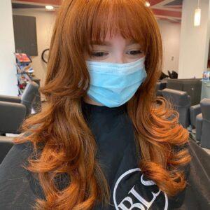 Red hair cut and color in Buckhead Atlanta